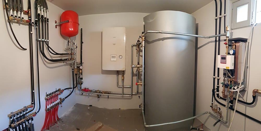 Centrale termica per abitazione monofamigliare